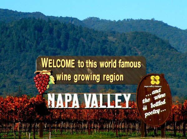 Welcome Sign to Napa Valley!