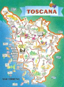 Map of Tuscany for Bucket List!