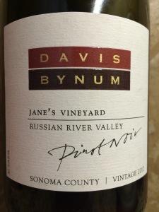2012 Davis Bynum Jane's Vineyard Pinot Noir