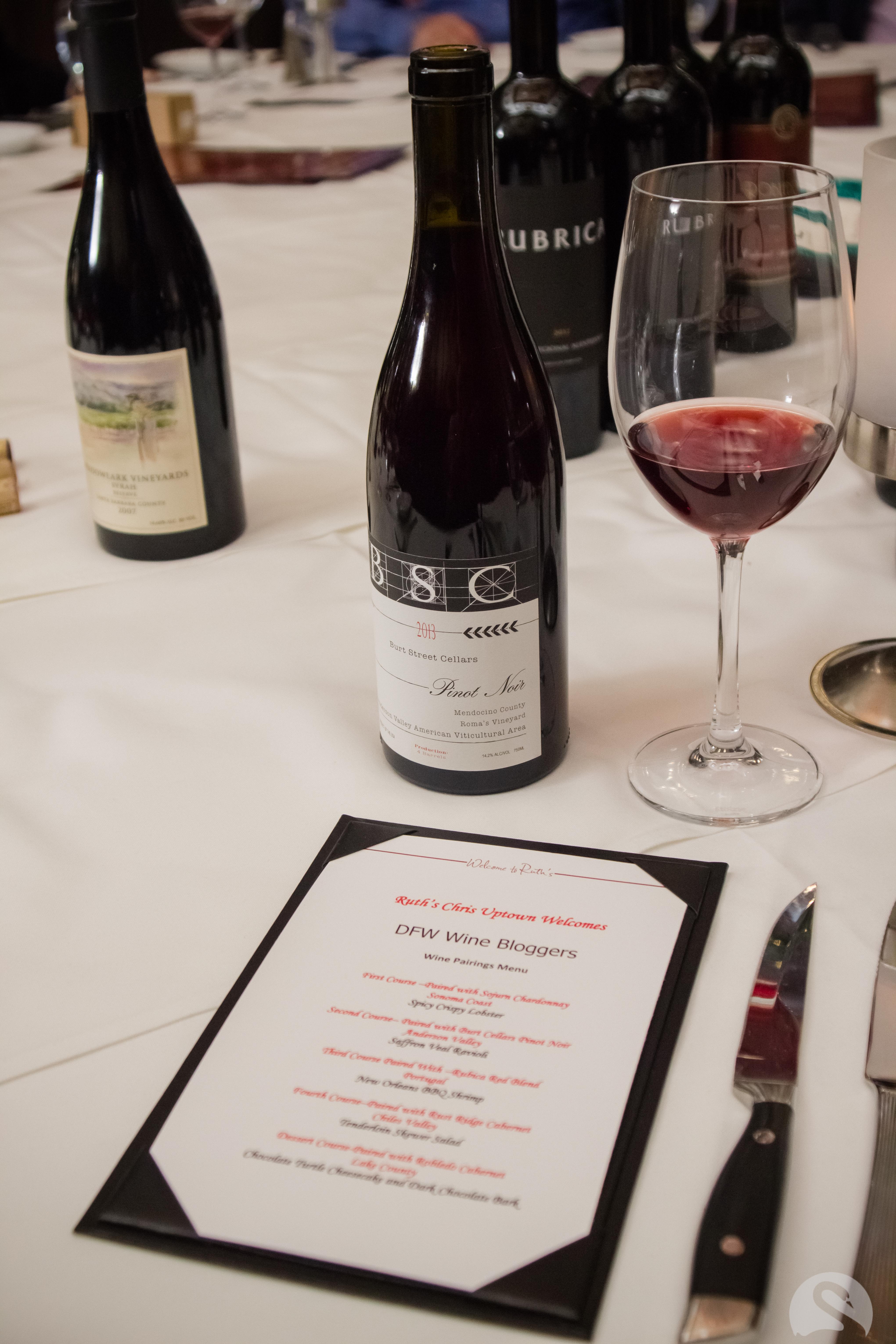 Menu Reoux Wine Dinner
