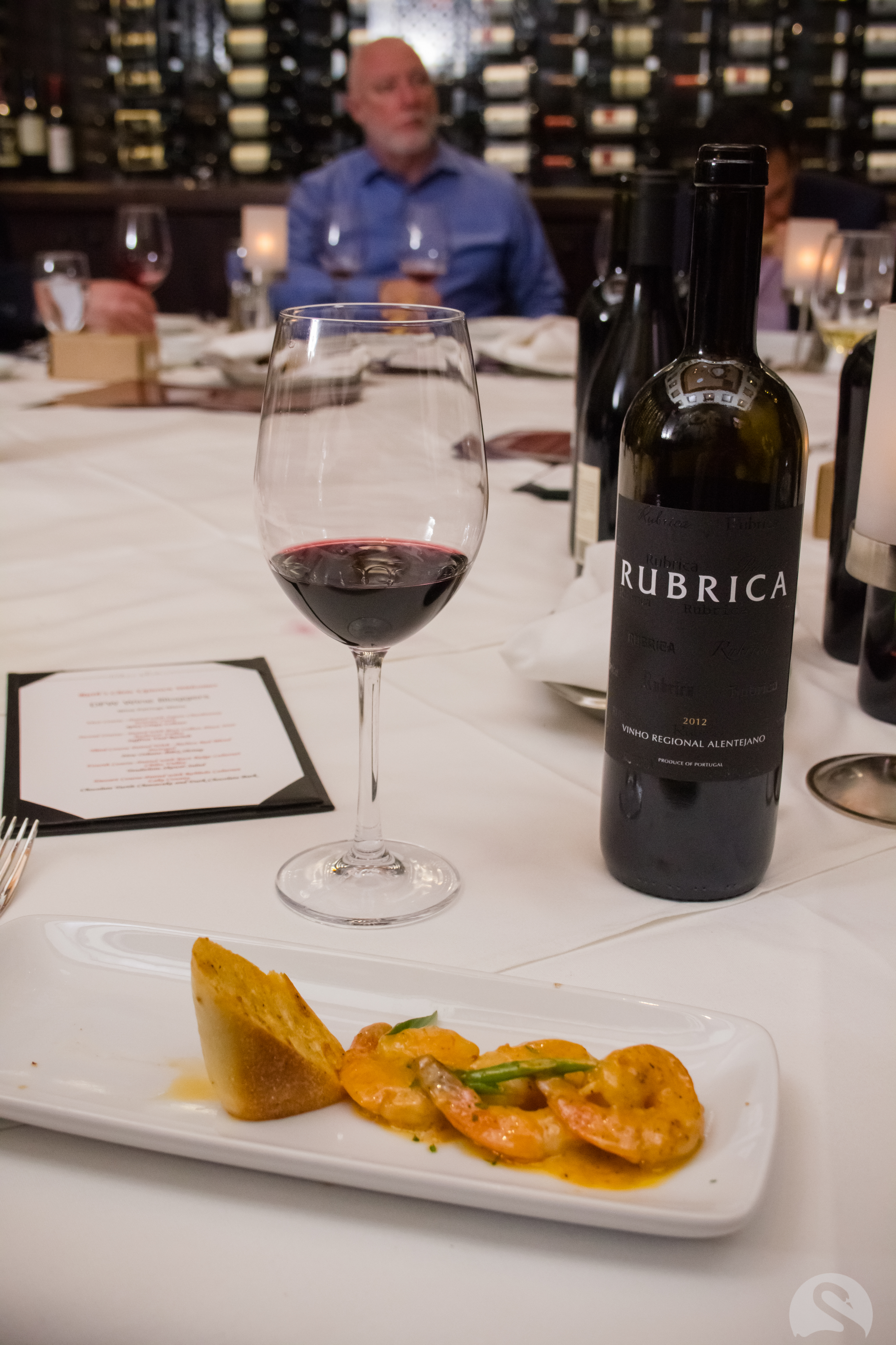 Spicy Shrimp paired with Rubrica