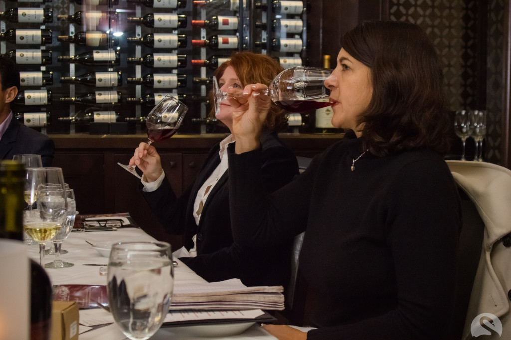 Michelle & Melanie enjoying the wines! Photo by Swan Photography