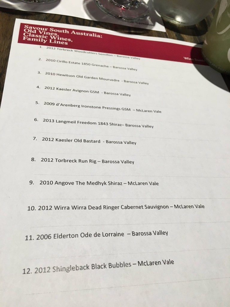 Savour South Australia Wine Seminar