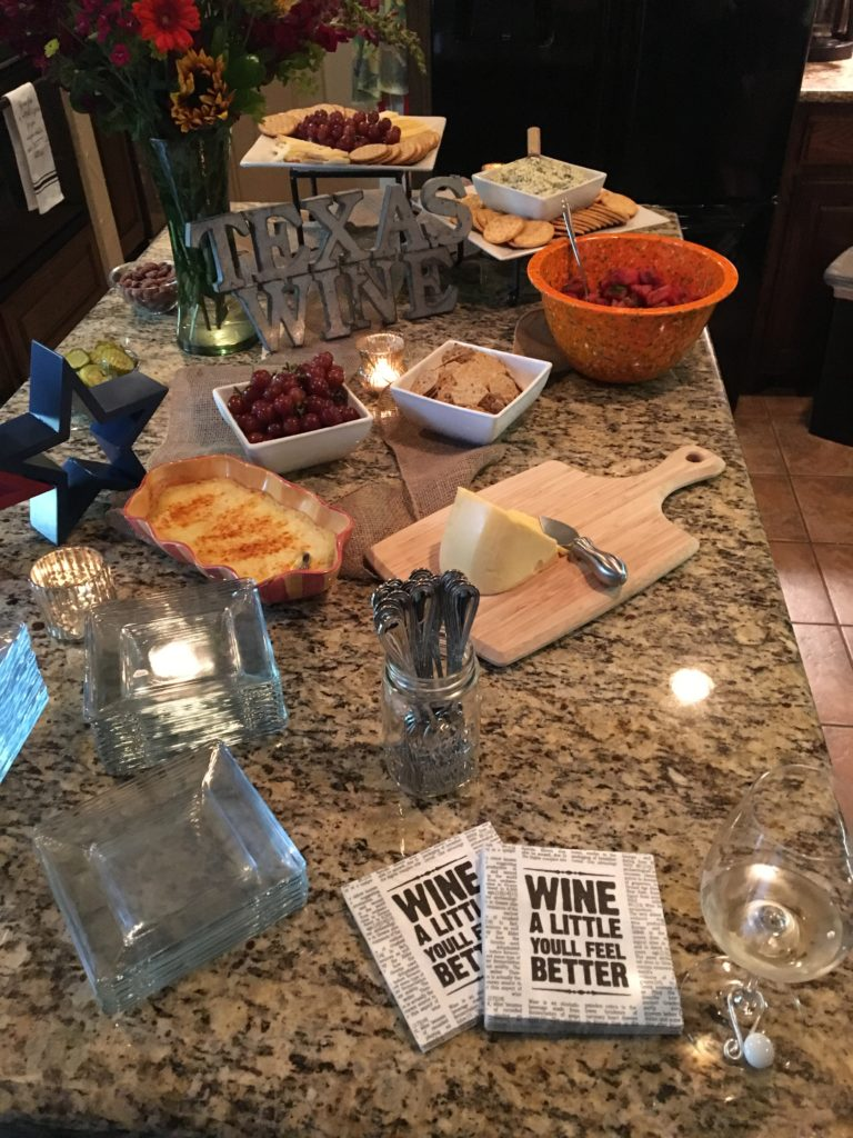 Texas Wine Party at the Texas Wineaux Home!