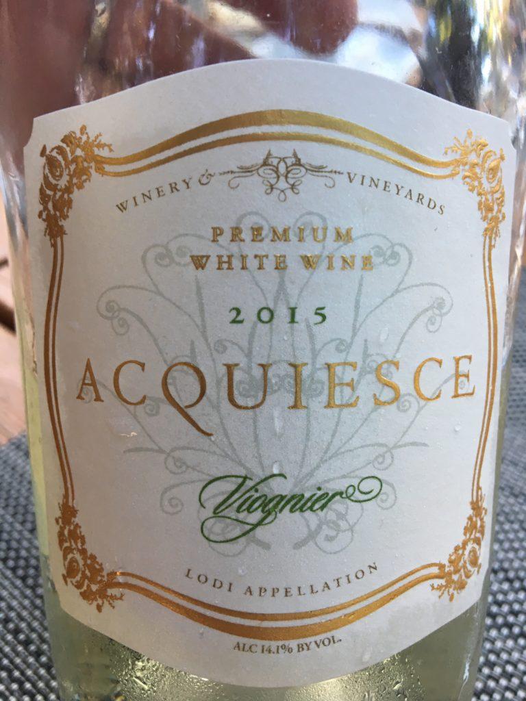 2015 Acquiesce Viognier, Stunning wine!