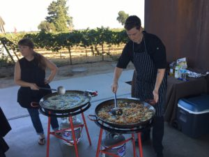 Paella for lunch at M2 Vineyards, YUMMMM!