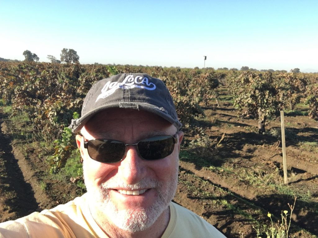 Selfie in Lodi Wine Country Vineyards!
